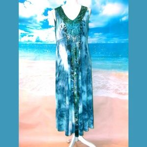 One World Tie Dye Maxi Dress Size Medium